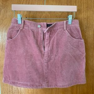 Pink Corduroy skirt from pacsun